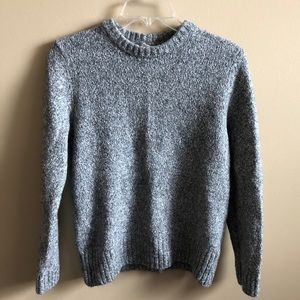 H&M Crew Neck Speckled Long Sleeve Sweater Top
